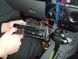 VW ニュービートル 社外CDユニット取り付け ETC取り付け 室内LED照明取り付け2