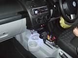 VW ニュービートル 社外CDユニット取り付け ETC取り付け 室内LED照明取り付け3