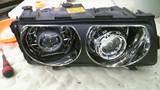 BMW E38 後期 ダブルプロジェクター ロービーム4灯化 バイキセノン CCFL ヘッドライトレンズクリーニング クリスタル ワンオフ加工ヘッドライト1