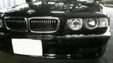 BMW E38 後期 ダブルプロジェクター ロービーム4灯化 バイキセノン CCFL ヘッドライトレンズクリーニング クリスタル ワンオフ加工ヘッドライト2