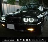 BMW E38 後期 ダブルプロジェクター ロービーム4灯化 バイキセノン CCFL ヘッドライトレンズクリーニング クリスタル ワンオフ加工ヘッドライト4