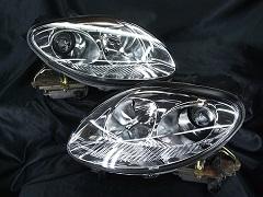 自動車用 ヘッドライト インナー塗装 ブラックアウト メッキ塗装など2