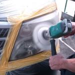 10アルファードヘッドライトクリーニング1黄ばみ取り鏡面化コーティング