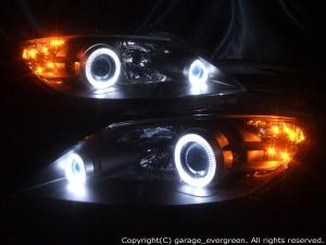 HID付■RX-8 前期 SE3P■高輝度LEDイカリング■ヘッドライト EG