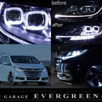美品■RC1/RC2オデッセイ イカリング&打換白色LEDヘッドライトEG