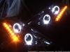 8000K付■ブラック Z50ムラーノ LEDイカリングHIDヘッドライトEG