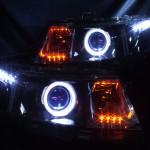 ブルーアイ&インナーブラック LEDイカリングヘッドライト