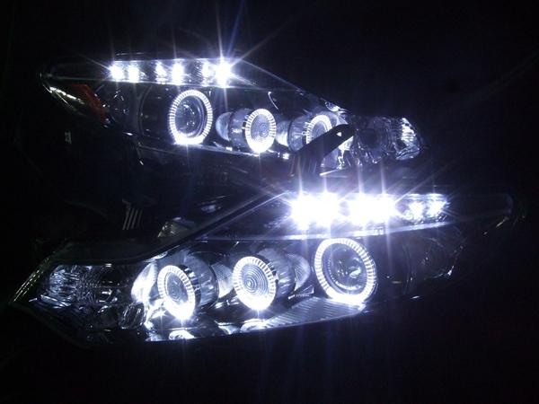 Z51 ムラーノ 増設LED&LEDイカリング ヘッドライト