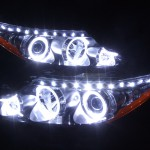 エスティマ 後期上部ラインLED&LEDイカリング ヘッドライト