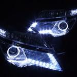 C26 セレナ 後期 ハロゲングリル側L字LED増設&LEDイカリング ヘッドライト
