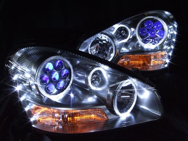 GF50/GNF50 50系シーマ 4500cc 前期 パープルアイ&LEDイカリング ヘッドライト