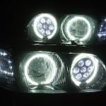 Y33シーマ バルカンプロジェクター&ブラック&CCFLイカリング ヘッドライト