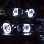 RB1 RB2 オデッセイ ブラッククロム&LEDイカリング ヘッドライト