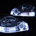 GF50/GNF50 50系シーマ 300G 4500cc 前期 LEDイカリング&ファイバーヘッドライト
