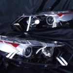 ZE2 ZE3 インサイト 3色塗り分けペイント&LEDイカリング ヘッドライト
