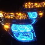 E51 エルグランド 前期 オレンジLED&ブルーLEDイカリング ヘッドライト