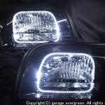 15 クラウン マジェスタLEDイカリング&ブラック ヘッドライト