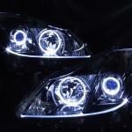 インナーブラック塗装&LEDイカリング&ファイバーヘッドライト