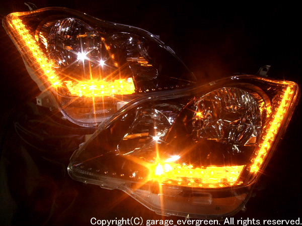 LED&スワロフスキー&ブラック ヘッドライト