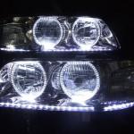 C35 ローレル LEDラインモール&LEDイカリング ヘッドライト