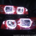 HR34 ER34 ENR34 R34系 スカイライン 車体指定色 レッド インナー塗装&LEDイカリング ヘッドライト