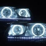 TCR11W TCR21W TCR10W TCR20W エスティマ CCFLイカリング&インナーフレーク塗装ヘッドライト