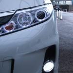 ACR50W ACR55W GSR50W GSR55W エスティマ後期 LEDイカリング &アクリルファイバーヘッドライト