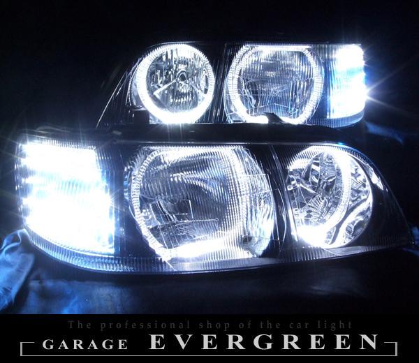 Y33シーマ LEDイカリング ヘッドライト