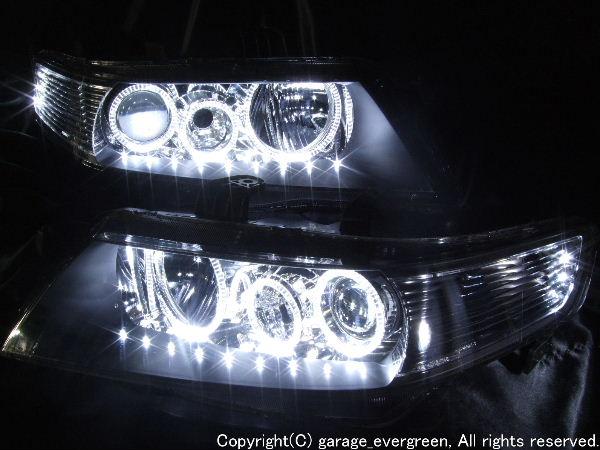 CL7 CL8 CL9 CM2 CM4 アコード LEDイカリング&アンダーラインLED ヘッドライト