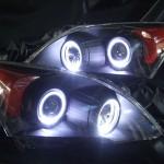 RE3 RE4 CR-V 艶消しマットブラック&コーナーオレンジ塗装&LEDイカリング ヘッドライト