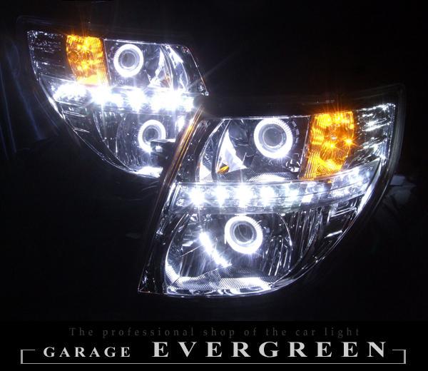 E51 エルグランド 後期 Lowリフレクターベース ダブルプロジェクターインストール LEDヘッドライト