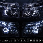 E52 エルグランド ブラック&LEDイカリング ヘッドライト