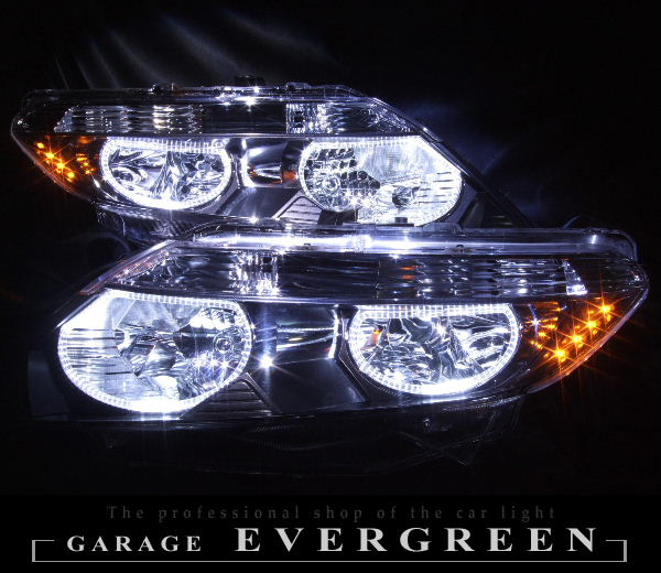 GJ1 GJ2 エアウェイブ LEDイカリング&増設オレンジLED ヘッドライト