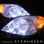 P12 プリメーラ サイドオレンジLED&LEDイカリング ヘッドライト