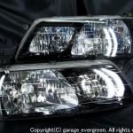 ブラッククロム ヘッドライトTCR11W TCR21W TCR10W TCR20W エスティマ