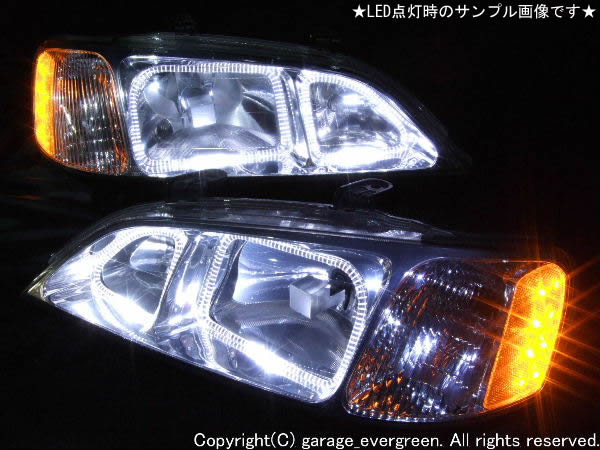 UA4 UA5 インスパイア 前期 LEDイカリング&クリスタル ヘッドライト