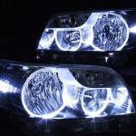 E15系 カローラ ルミオン ハロゲン 前期/後期 LEDイカリング ヘッドライト