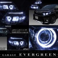 ZRR80系ヴォクシー■VOXY■白色LED&イカリング ヘッドライトEG