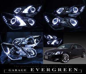 美品ブラック&白LED GRS19レクサスGS前期/後期HIDヘッドライトEG