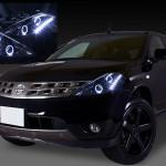 Z50 ムラーノ ブラッククロム&LEDイカリングサイドホワイト ヘッドライト