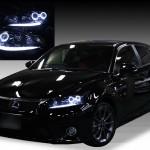 レクサス ZWA10 CT ポジションLED打替え&ブラック&イカリング ヘッドライト