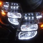 E51 エルグランド 前期 ブラッククロム&オレンジLED&イカリング ヘッドライト