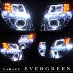 E51 エルグランド 後期 白/橙LED&LEDイカリング ヘッドライト