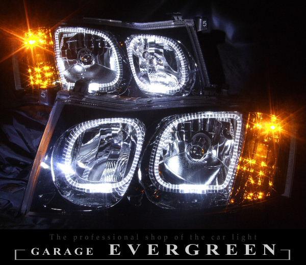 Y34 セドリック ブラッククロム&LEDイカリング ヘッドライト