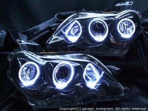 GRX120系マークX前期■ブラック&LEDイカリングHIDヘッドライトEG