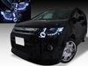 美品■ブラック CV5WデリカD:5 LEDイカリングHIDヘッドライト EG