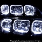 100系マークⅡツアラーV/Sブラック&LEDイカリング ヘッドライト
