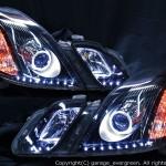 GX110W/GX115W/JZX110W/JZX115W マークⅡ ブリット 後期 アンダーラインLED増設&ブラック&LEDイカリング ヘッドライト