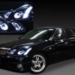 GX110W/GX115W/JZX110W/JZX115W マークⅡ ブリット 後期ブラック&LEDイカリング ヘッドライト