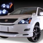 ACU30W ACU35W MCU30W MCU35W GSU30W GSU35W ハリアーオレンジLED&LEDイカリング&ブラック ヘッドライト
